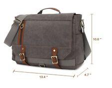 KAUKKO Vintage Canvas Messenger Bag  / Men's Shoulder Bag/ Colour Grey / NEW