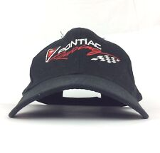 Pontiac Racing Embroidered Black Baseball Cap Hat Adj Adult Size Cotton GM Chevy