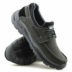 Mens Skechers Slip On Arch Fit Casual Smart Walking Work Loafers Boat Shoes Size