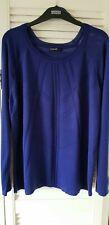 Gorgeous M&S Autograph pointelle blue jumper size 16