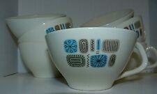 Vintage Cannonsburg Temporama Pattern Mid Century Modern Coffee Tea Cups