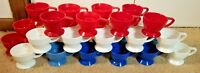 Set of 30 Vintage Plastic Solo Cozy Cup Holders #68 Red/White/Blue