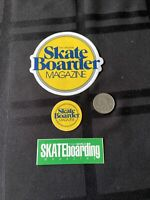 Skateboarder magazine stickers Lot Of 3 ALVA  SIMS  Santa Cruz Powell Dogtown