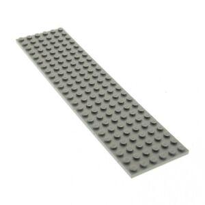 1x Lego Construction Train Chemin Plaque Alt-Hell Gris 6x24 7740 113 371 3026