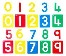 Number Stencils 0 - 9 , Stencil Set, Durable Plastic Stencils, 90mm x 110mm
