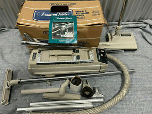 Vintage Electrolux Diamond Jubilee Canister Vacuum ATTACHMENTS Manual Bags Box