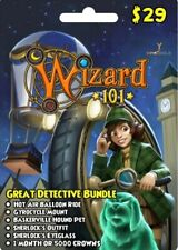 NEW Wizard 101 Great Detective Bundle Prepaid Game Card FAST DELIVERY
