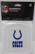 INDIANAPOLIS COLTS NFL Sandwich Container  Great for school/ work lunches  NIP