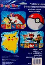 Pokemon Gotta Catch'em All Print Decorations Party Supplies Pikachu Ash NEW