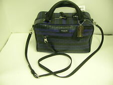 COACH F30471 BL INDIGO BLK CROSS BODY BAG  L STRAP W/TAG 11X7X5- MAKE OFFERS!!!!
