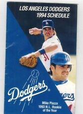 1994 Dodgers pocket schedule  Mike Piazza  cover