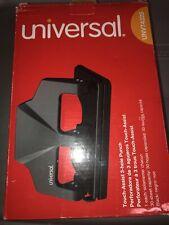 Universal 30 Sheet Three Hole Power Assist Punch Black 74325