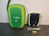 FOR PARTS LeapFrog LeapPad2 Kids Learning Tablet Green N2390 w/Case and 1 Game