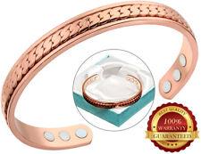 Cuivre Magnétique Santé Bracelet 6 Magnet Arthrite Douleur Cuff Bangle Wristband