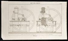1852 - Engraving Arts Machine Heads Monnaie (1) .Science, Numismatic