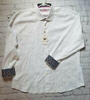 NWT $149.00 Bertigo Men's Rian Dress Button-Down Navy Blue Size 3XL