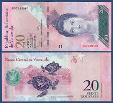 VENEZUELA  20 Bolivares 2011 UNC  P. 91 e