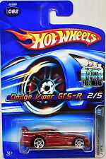 HOT WHEELS 2006 MOPAR MADNESS DODGE VIPER GT5-R #062 RED FACTORY SEALED