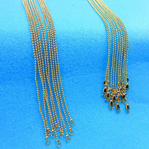 """5P 16-30"""" Wholesale jewelry 18K Gold Filled Beads Ball Chains Necklaces Pendants"""