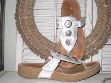 Josef Seibel Women's Tonga Thong Sandal (White Metallic) Size 9.5 / 40