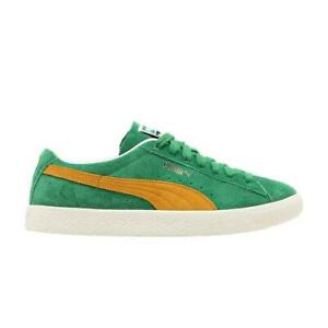 Mens Puma Suede Vintage Amazon Green Saffron Ivory Glow 374921-09