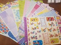 DISNEY 3D Decoupage Sheets Card Making Paper Crafts *CUTTING REQUIRED*