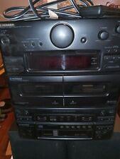 Pioneer XR-P330M CD Cassette Deck, 2 speakers, remote, manual, 6 disc changers