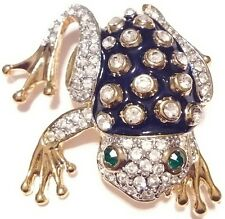 High End Vintage Estate ENAMEL Rhinestone FROG TOAD Brooch PIN Jewelry LOT A