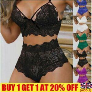 Sexy Lace Thong Push Up Bra Underwear Set Sets Panties Bra Lingerie Nightwear