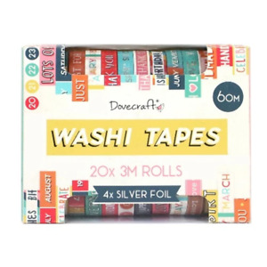 Dovecraft Sentiments Washi Tape Box - 20 Rolls