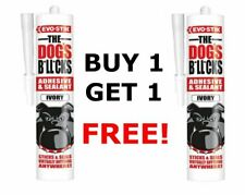 More details for evo-stik the dogs b*ll*cks multipurpose adhesive & sealant, ivory 290ml 1 free!