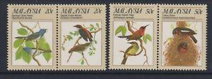 Malasia - 1988 , Protegidos Aves, 2nd Serie Juego - MNH - Sg 394/7