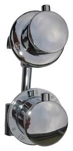 2 WAY THERMOSTATIC SHOWER MIXER VALVE TAP, CONCEALED DIVERTER, BRASS CHROME 046N