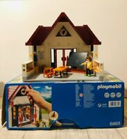 Playmobil 6865 City Life School House With Box Almost Complete Preschool Toy
