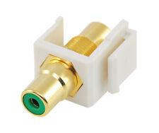 RCA keystone coupler - green