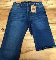 Mens Union Blues Stonewash Blue Loose Fit Denim Jeans - UK Size 36W 29L