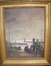 """Suhr, 1991 """"Hafenszene"""", Öl/Malfaser   177/13087"""