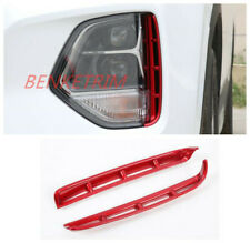 For Hyundai Santa Fe 2019 ABS red Front Grille Fog lights Lamp cover trim 2PCS