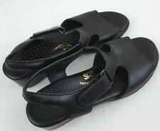 SAS TRIPAD COMFORT Womens T-Strap Mule Black Leather Sandal Shoes Size 7