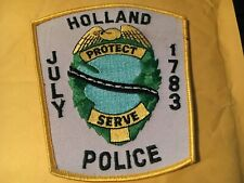 Holland Mass. Police Patch old style