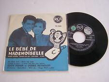 EP 4 TITRES VINYL 45 T , E . FISHERET D . REYNOLDS . BOF LE BEBE DE MADEMOISELLE