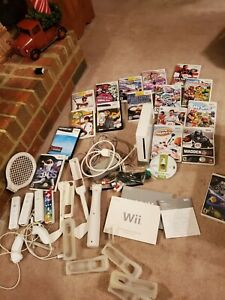 Nintendo Wii Video Game System Console  Games RVL-001 games accessories working