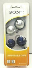 Vintage Sony MDR-Q22LP/SQ1 Stereo Headphones w/ Changeable Caps Blue/Silver NIB