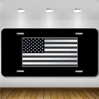 Tactical American Flag License Plate Patriotic USA Auto Tag US Military Service