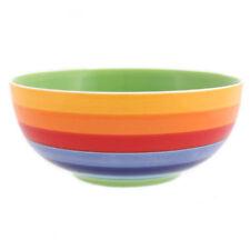 Ceramic Striped Serving Bowls