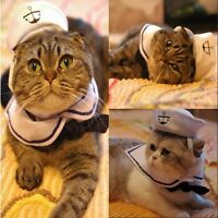 Cat Small Dog Sailor Costume Adjustable Outfit  Hat&Cape for Halloween Christmas