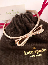 NWT Kate Spade LOVE NOTES Bow Bangle Bracelet & Dust Bag Rose-Gold Crystals $58