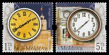 Moldova stamps! Clocks of Chisinau, MNH, 2018, 2v