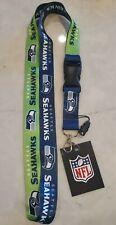 Seattle Seahawks Football Lanyard Clip Detachable Keychain NWT