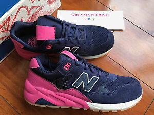 sz 8 NEW BALANCE 580 MRT580UP RevLite *SUEDE* SOLARIZED PACK NAVY-PINK size 8